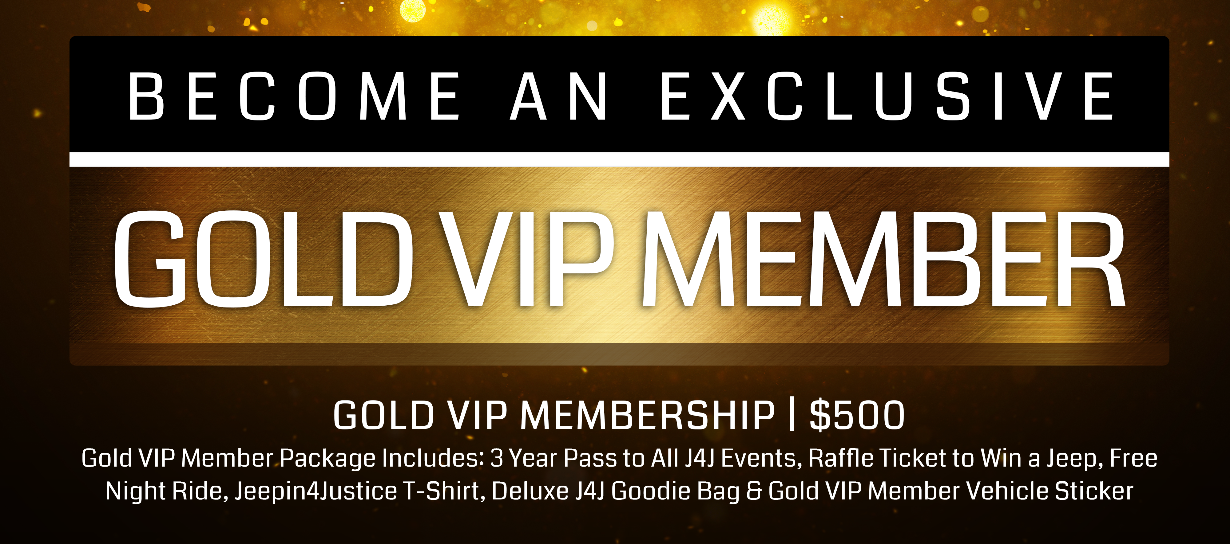 Become A Gold VIP Member Header